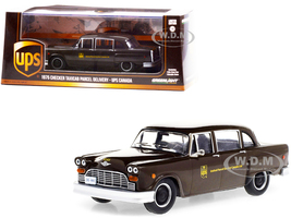 1975 Checker Taxicab Parcel Delivery Brown UPS United Parcel Service Canada Ltd 1/43 Diecast Model Car Greenlight 86196