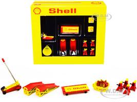 Shop Tool Set of 6 pieces Shell Oil 1/18 Diecast Replica GMP 18950