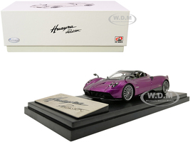 Pagani Huayra Roadster Purple Metallic Carbon Accents 1/43 Diecast Model Car LCD Models 43003