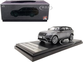 Land Rover Range Rover Velar First Edition Sunroof Gray Metallic Black 1/43 Diecast Model Car LCD Models 43004