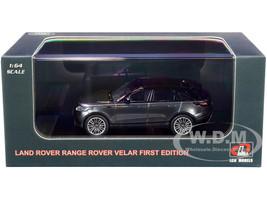 Land Rover Range Rover Velar First Edition Sunroof Gray Metallic Black 1/64 Diecast Model Car LCD Models 64001