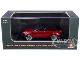 Land Rover Range Rover Velar First Edition Sunroof Red Metallic Black 1/64 Diecast Model Car LCD Models 64001
