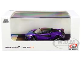 McLaren 600LT Purple Metallic Carbon Top Carbon Accents 1/64 Diecast Model Car LCD Models 64007