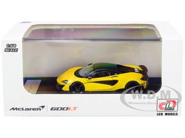 McLaren 600LT Yellow Metallic Carbon Top Carbon Accents 1/64 Diecast Model Car LCD Models 64007