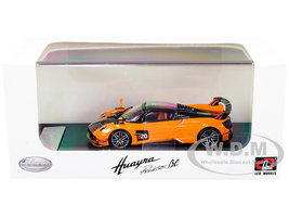 Pagani Huayra Roadster BC Orange Carbon Red White Stripes 1/64 Diecast Model Car LCD Models 64011