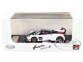Pagani Huayra Roadster BC White Carbon Red White Stripes 1/64 Diecast Model Car LCD Models 64011