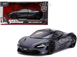 Shaw's McLaren 720S RHD Right Hand Drive Metallic Gray Fast & Furious Presents Hobbs & Shaw 2019 Movie 1/32 Diecast Model Car Jada 30755