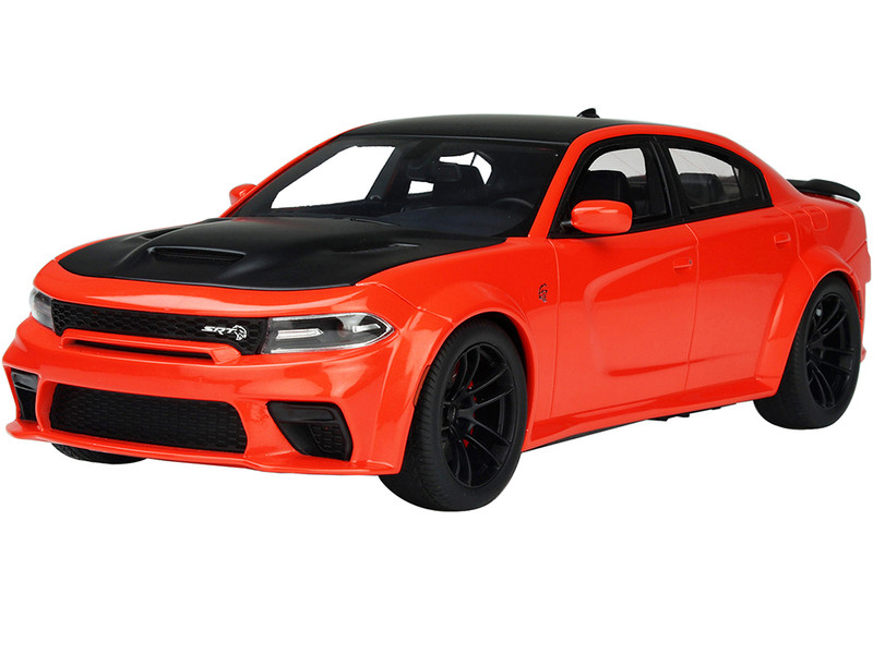 2021 Dodge Charger SRT Hellcat Red Eye Go Mango Orange Black USA Exclusive Series 1/18 Model Car GT Spirit ACME US041