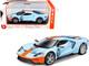 Ford GT #9 Light Blue Orange Stripes Heritage Edition 1/32 Diecast Model Car Bburago 41164