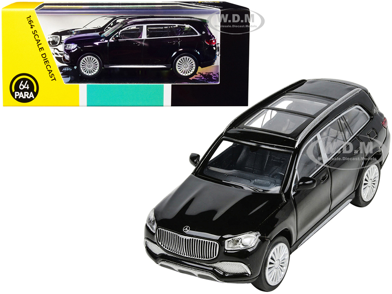 Mercedes-Maybach GLS 600 with Sunroof Black 1/64 Diecast Model Car Paragon PA-55301