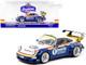Porsche RWB 964 Waikato RHD Right Hand Drive #1 White Blue Metallic with Stripes RAUH-Welt BEGRIFF 1/43 Diecast Model Car Tarmac Works T43-017-WKT