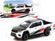 Toyota Hilux TRD Pickup Truck RHD Right Hand Drive White Black Red Stripes 1/64 Diecast Model Car Tarmac Works T64-041-WH