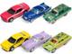 Johnny Lightning Collector's Tin 2021 Set of 6 Cars Release 1 1/64 Diecast Model Cars Johnny Lightning JLCT006