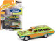 1960 Ford Country Squire Rat Fink Kustom Green Orange with Graphics Collector Tin Limited Edition 6020 pieces Worldwide 1/64 Diecast Model Car Johnny Lightning JLCT006-JLSP146 A