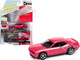 2010 Dodge Challenger R/T Furious Fuchsia Pink White Stripes Collector Tin Limited Edition 5036 pieces Worldwide 1/64 Diecast Model Car Johnny Lightning JLCT006-JLSP147 B