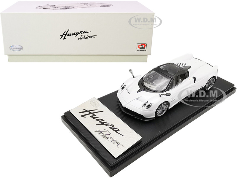 Pagani Huayra Roadster White Carbon Accents 1/43 Diecast Model Car LCD Models LCD43003 wh