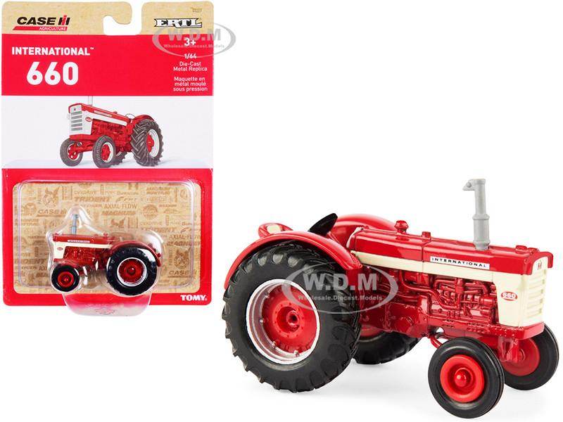 IH International Harvester 660 Tractor Red Case IH Agriculture Series 1/64 Diecast Model ERTL TOMY 44227