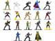 G.I. Joe Set of 18 Diecast Figurines Nano Metalfigs Series Jada 32913