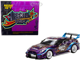 Nissan 35GT-RR Purple Metallic Graphics Liberty Walk LB-Silhouette WORKS GT Featuring Paint DSYAS Special Coatings Limited Edition 5000 pieces Worldwide 1/64 Diecast Model Car True Scale Miniatures MGT00245