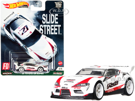 2020 Toyota GR Supra Pandem #27 White Slide Street Series Diecast Model Car Hot Wheels GRJ79
