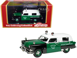 1953 Ford Courier Police Car Green Black White Top Emergency Service Division New York City NYC Limited Edition 300 pieces Worldwide 1/43 Model Car Goldvarg Collection GC-NYPD-002