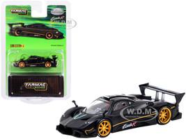 Pagani Zonda R Matt Black 1/64 Diecast Model Car Tarmac Works T64G-TL015-MB