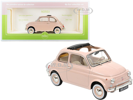 1968 Fiat 500L Pink Special BIRTH Packaging My First Collectible Car 1/18 Diecast Model Car Norev 187774