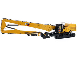 CAT Caterpillar 352 Ultra High Demolition Hydraulic Excavator with Operator Two Interchangeable Booms High Line Series 1/50 Diecast Model Diecast Masters 85663