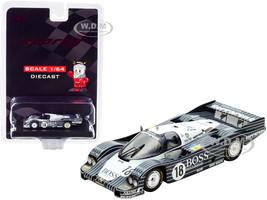 Porsche 956 #18 Lassig Plankenhorn Wilson Boss 7th Place 24H Le Mans 1983 1/64 Diecast Model Car Sparky Y180B