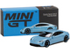 Porsche Taycan Turbo S Frozen Blue Metallic Limited Edition 1800 pieces Worldwide 1/64 Diecast Model Car True Scale Miniatures MGT00225