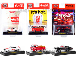 Coca-Cola Set of 3 pieces Release 11 Limited Edition 9600 pieces Worldwide 1/64 Diecast Model Cars M2 Machines 52500-A11