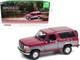 1996 Ford Bronco XLT Burgundy Silver 1/18 Diecast Model Car Greenlight 19095