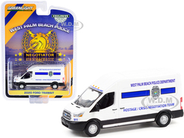 2020 Ford Transit Van White Hostage Crisis Negotiation Team West Palm Beach Police Department Florida Hobby Exclusive 1/64 Diecast Model Greenlight 30261