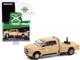 2018 Ram 3500 Heavy Duty Dually Flatbed Matt Tan Carabineros de Chile Police Truck Hobby Exclusive 1/64 Diecast Model Car Greenlight 30271