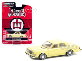1981 Dodge Diplomat Yellow Bill Maxwell's The Greatest American Hero 1981 1983 TV Series Hollywood Series Release 32 1/64 Diecast Model Car Greenlight 44920 A