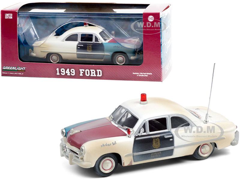 1949 Ford Police Car Weathered Version Tijuana Border Patrol Mexico 1/43 Diecast Model Car Greenlight 86191