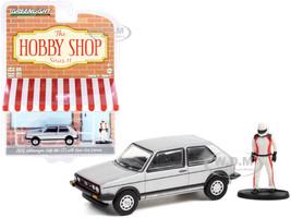 1976 Volkswagen Golf MkI GTI Silver Race Car Driver Figurine The Hobby Shop Series 11 1/64 Diecast Model Car Greenlight 97110 C
