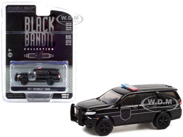 2021 Chevrolet Tahoe Black Bandit Police Black Black Bandit Series 25 1/64 Diecast Model Car Greenlight 28070 E