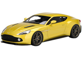Aston Martin Vanquish Zagato Cosmopolitan Yellow Metallic 1/18 Model Car Top Speed TS0191