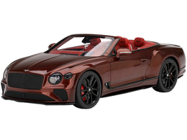 Bentley Continental GT Convertible Cricket Ball Red Metallic Red Interior 1/18 Model Car Top Speed TS0292