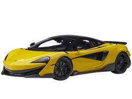 McLaren 600LT Sicilian Yellow and Carbon 1/18 Model Car Autoart 76082