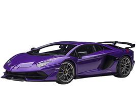 Lamborghini Aventador SVJ Viola Pasifae Pearl Purple Carbon Accents 1/18 Model Car Autoart 79179