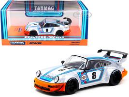 Porsche RWB 964 Ichiban Boshi #8 Martini Silver with Stripes RAUH-Welt BEGRIFF 1/43 Diecast Model Car Tarmac Works T43-017-IB