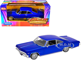 1965 Chevrolet Impala SS 396 Blue Metallic Low Rider Collection 1/24 Diecast Model Car Welly 22417