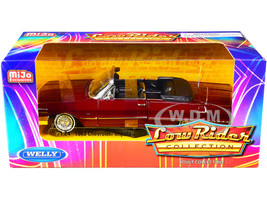1963 Chevrolet Impala SS Convertible Red Metallic Low Rider Collection 1/24 Diecast Model Car Welly 22434