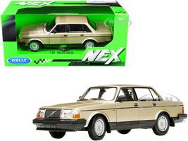 Volvo 240 GL Gold Metallic NEX Models 1/24 Diecast Model Car Welly 24102
