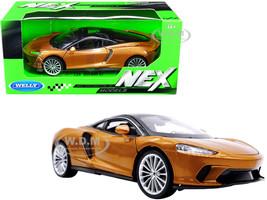 McLaren GT Gold Metallic Black Top NEX Models 1/24 Diecast Model Car Welly 24105