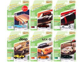 Classic Gold Collection 2021 Set B of 6 Cars Release 2 1/64 Diecast Model Cars Johnny Lightning JLCG025 B
