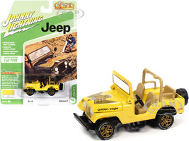 Jeep CJ-5 Sunshine Yellow Golden Eagle Graphics Classic Gold Collection Limited Edition 7418 pieces Worldwide 1/64 Diecast Model Car Johnny Lightning JLCG025-JLSP150 B