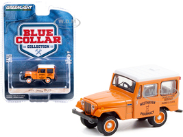 1974 Jeep DJ-5 Westhaven Pharmacy Orange White Top Blue Collar Collection Series 9 1/64 Diecast Model Car Greenlight 35200 B